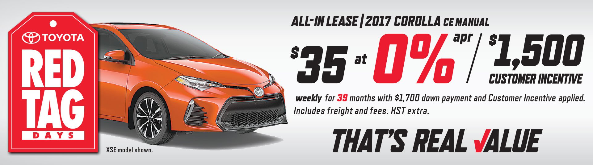 2017 Corolla Lease Offer
