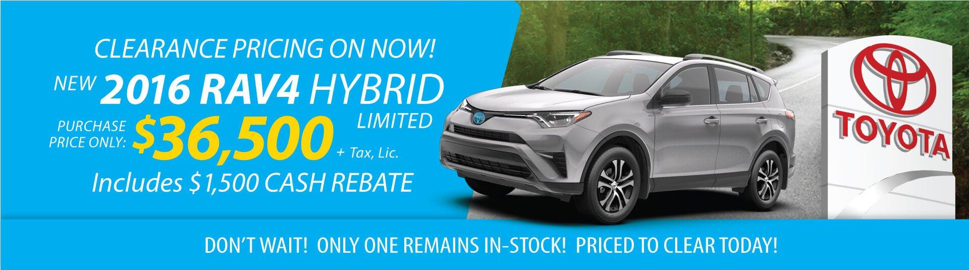 2016 RAV4 Hybrid Clearance