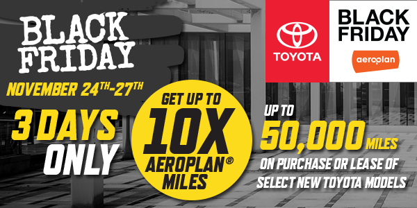 Toyota Black Friday Event
