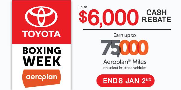 Toyota Boxing Week