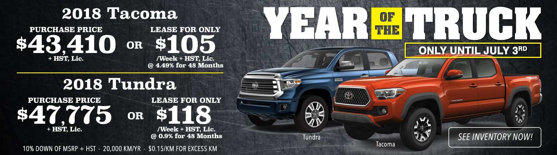 Toyota Truck Month Promotion