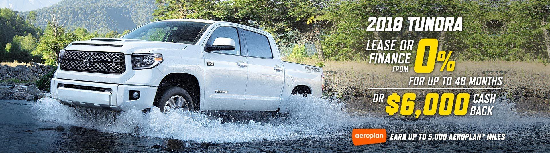 2018 Toyota Tundra Offer