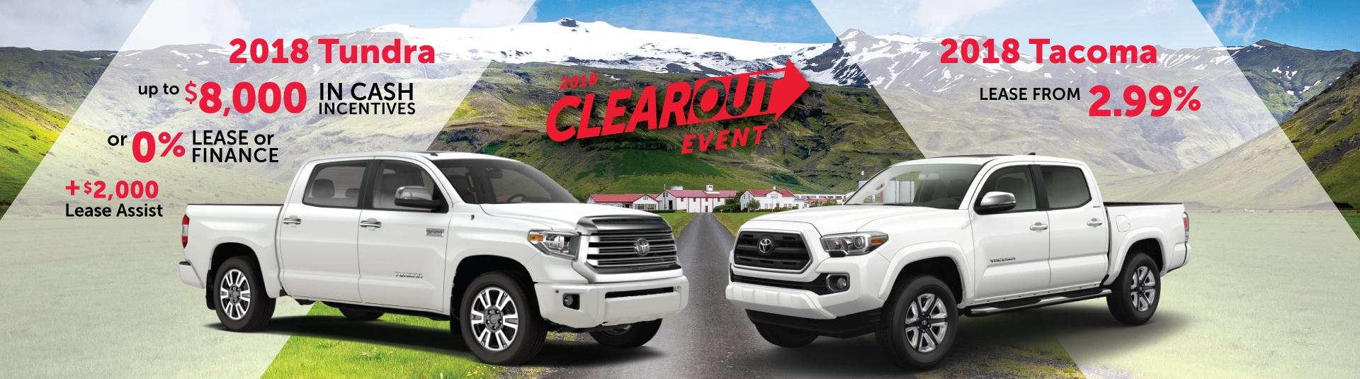 2018 Toyota Tundra & Tacoma Offers