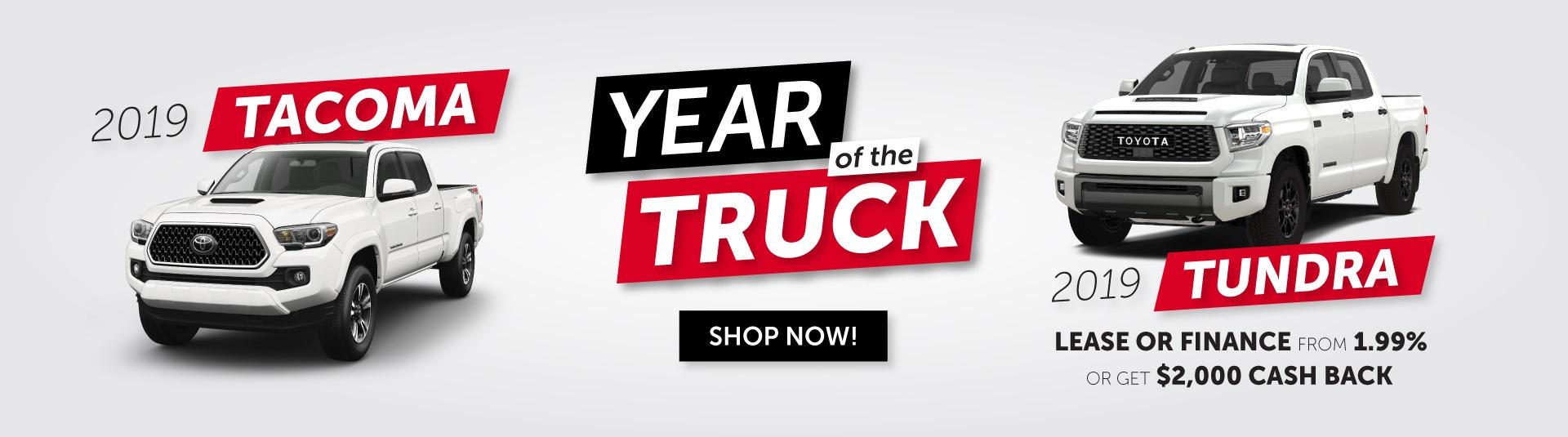Year of the Truck -Tacoma and Tundra