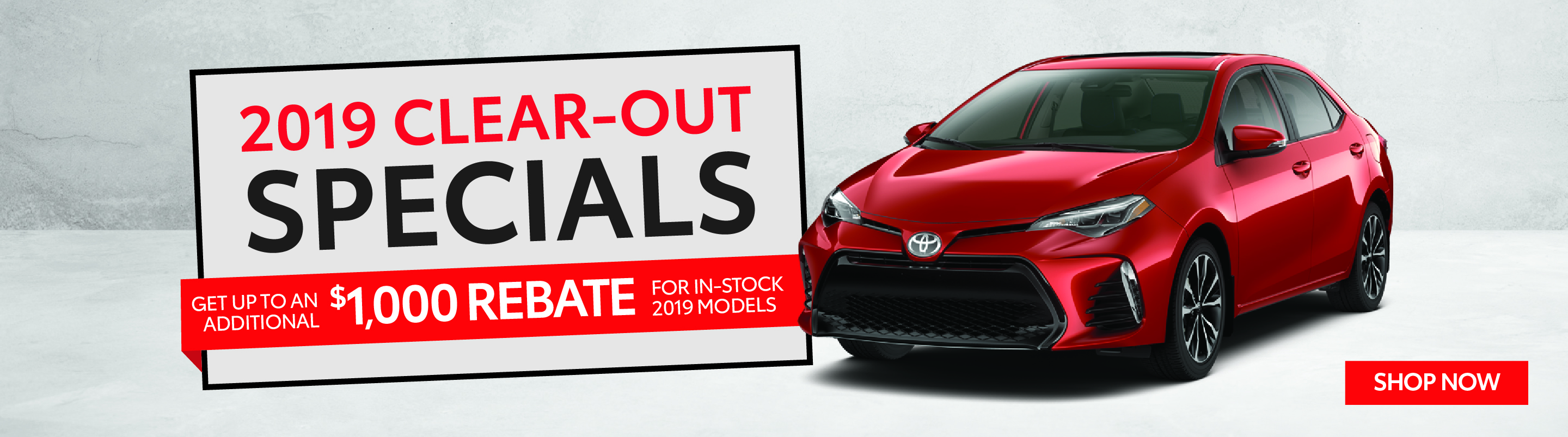 2019 Clearout Specials - Goderich Toyota