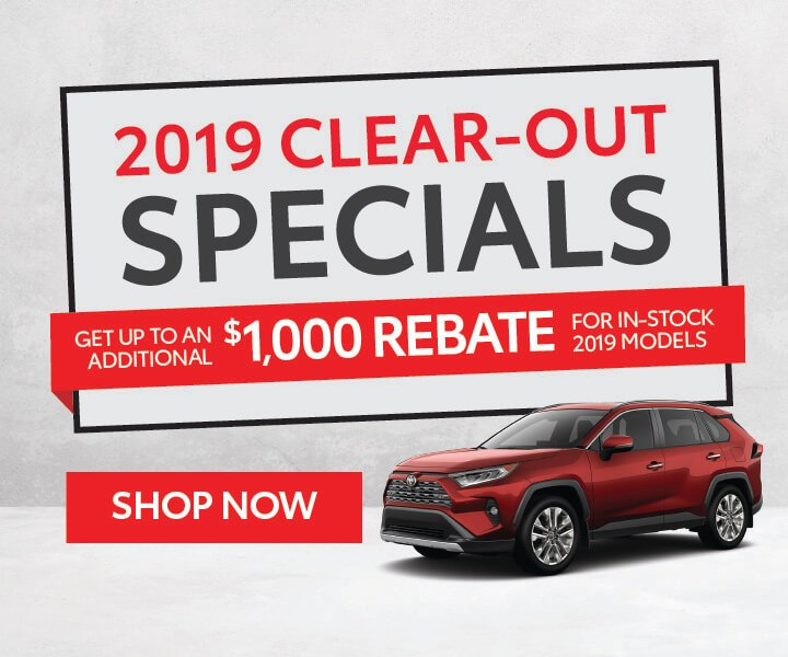 2019 clearout specials
