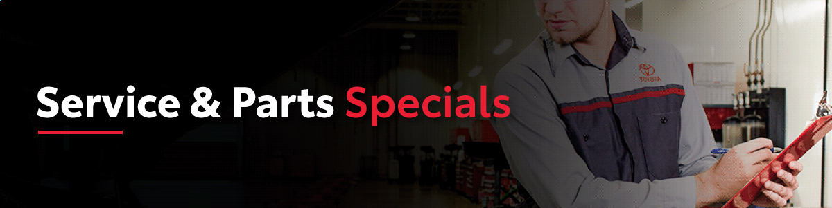 Service and Parts Specials at Goderich Toyota