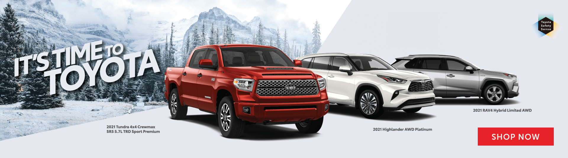 It's Time To Toyota - 2021 Model lineup at Goderich Toyota