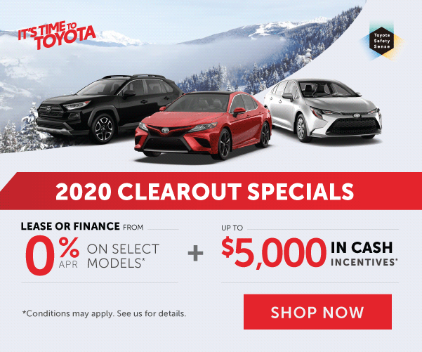 2020 Clearout Specials