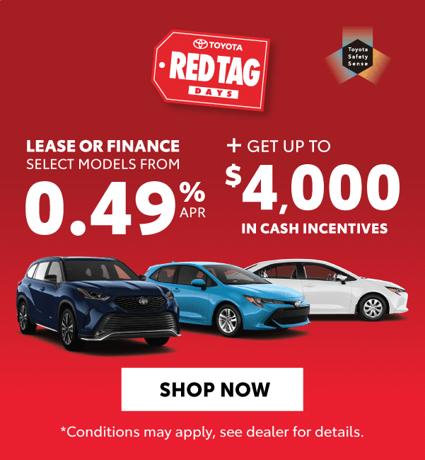 Red Tag Days Offers Goderich Toyota