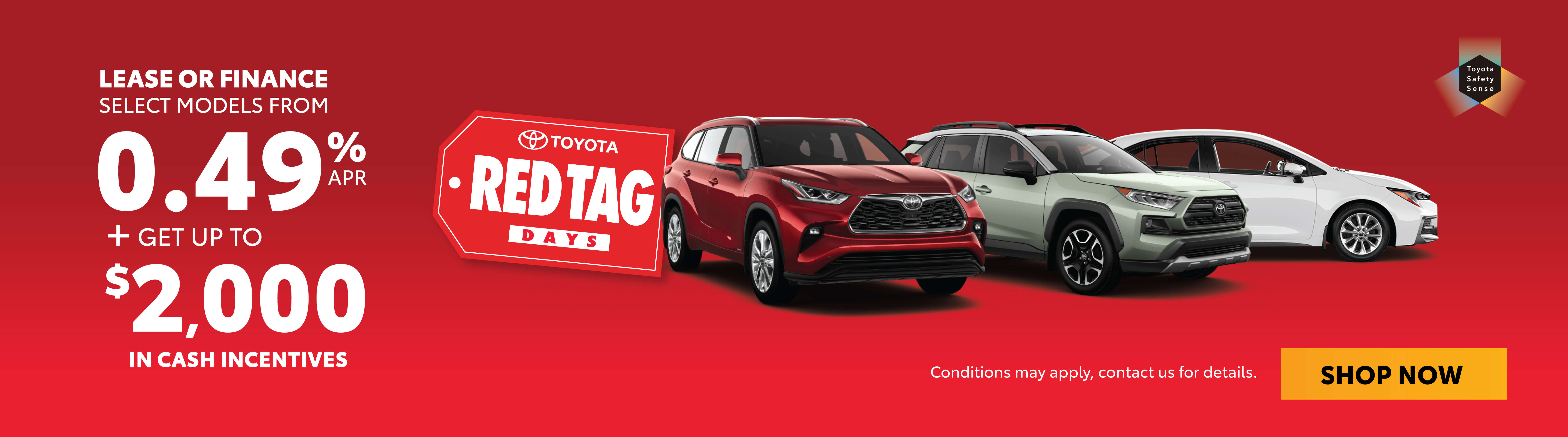 Red Tag Days Goderich Toyota