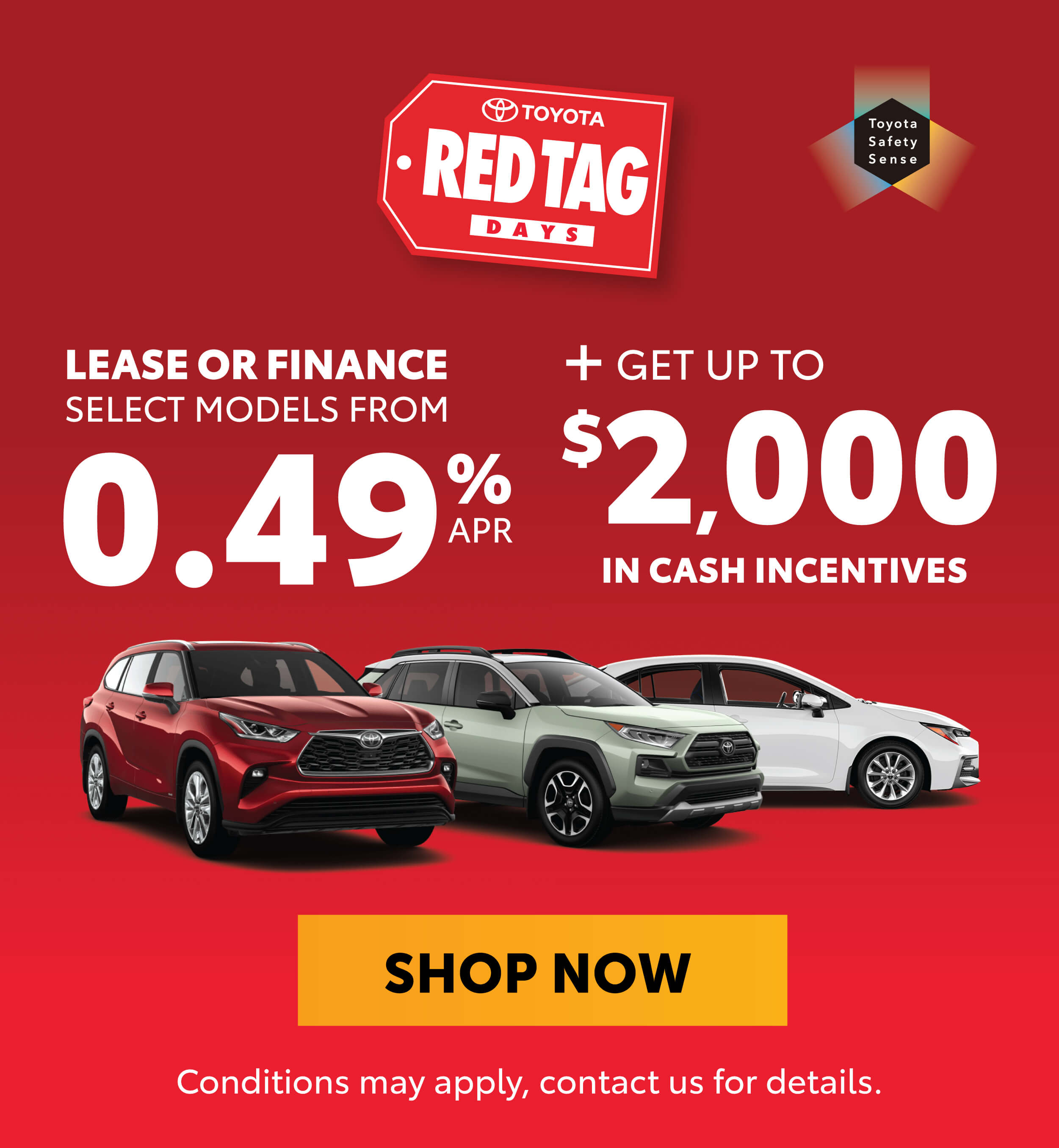 Red Tag Days Offers at Goderich Toyota