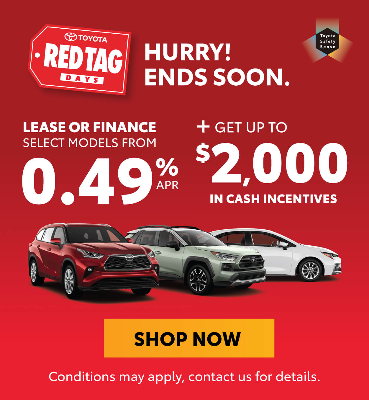 Goderich Toyota Red Tag Days offers