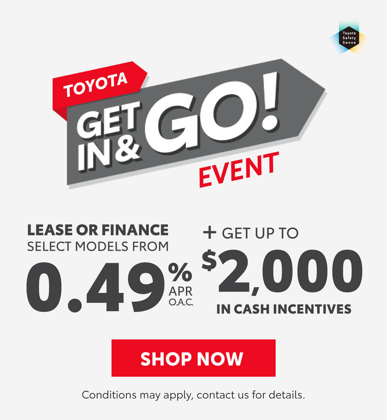 Toyota Get in and go event Goderich Toyota